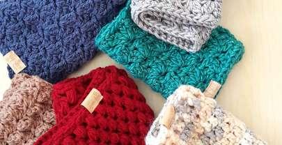 Плетени подаръци #2: кръгъл шал