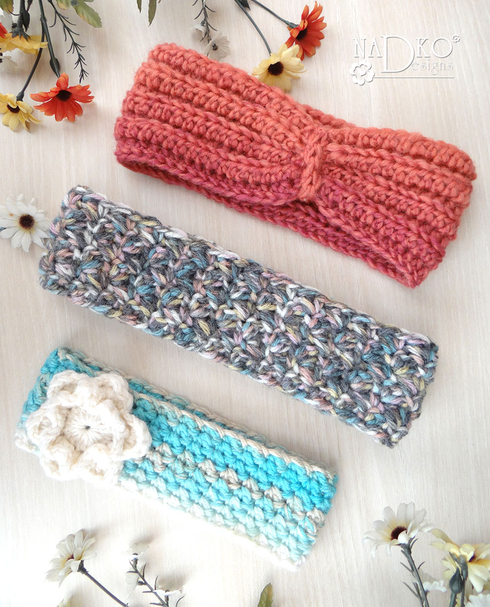 Плетени подаръци #1: лента за глава