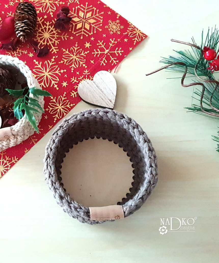 Плетен панер с дървено дъно {видеоурок}
